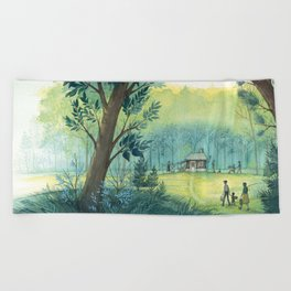 Home In The Woods Beach Towel
