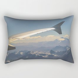 Chilean Andes Mountain Aerial View Rectangular Pillow