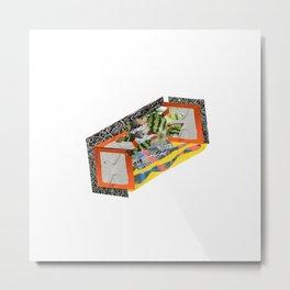 Fuzzy Watermelon Wires // External Stem Cave Digit Slicer Metal Print