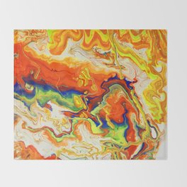 Abstract Painting. Fire. Lava Throw Blanket