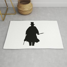 Jack the Ripper Silhouette Rug