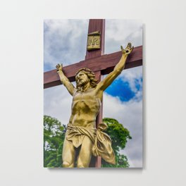 Crucifixion of Jesus Metal Print