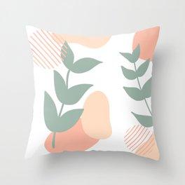 Peach Minimalism 2 Throw Pillow