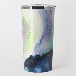 Northern Lights Watercolor Travel Mug