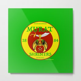 Murat Shriners, 1884, Yellow & Red Metal Print