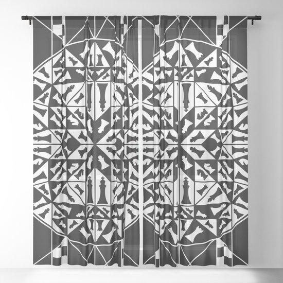 Chess Pieces Geometric Ornament by nataskk