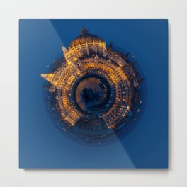 Tiny World of the Hungarian Parliament in Budapest Metal Print