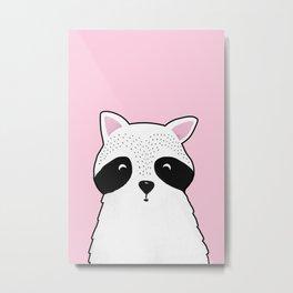 Raccoon Print Metal Print