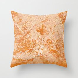 Riyadh, Saudi Arabia, Gold, Blue, City, Map Throw Pillow