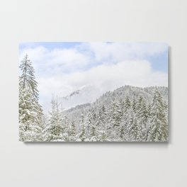 The Mountain Is Playing With Clouds Metal Print