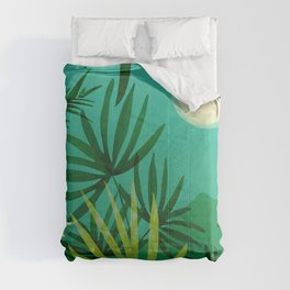 Exotic Garden Nightscape / Tropical Night Series #2 Comforters