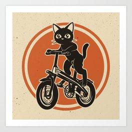 Riding bike Art Print