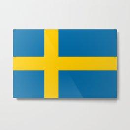Swedish Flag of Sweden Metal Print