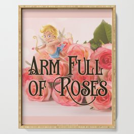 Arm Full of Roses Serving Tray