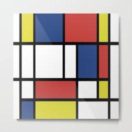 Mondrian 2 Metal Print
