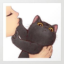 cat : huuh Art Print