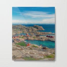Sleepy Coastal Village Photo Metal Print