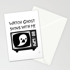 watch ghost shows with me Stationery Cards