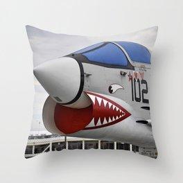 1957 F-8K Crusader Throw Pillow