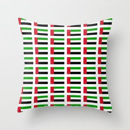 flag of UAE -united arab Emirates,Abu dhabi, dubai,emirati,الإمارات Throw Pillow