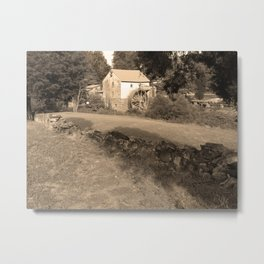 Sepia Old Red Mill Metal Print