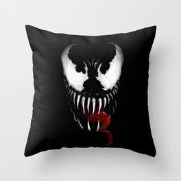 Venom, Spider man Enemie Throw Pillow