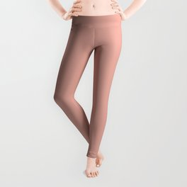 Soft Blush Clay Pink Solid Leggings