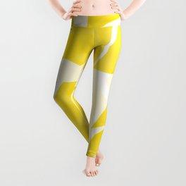 Mellow Yellow Monstera Leaves White Background #decor #society6 #buyart Leggings