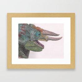 Happy Chameleon (watercolor) Framed Art Print
