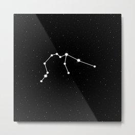 Aquarius Star Sign Night Sky Metal Print