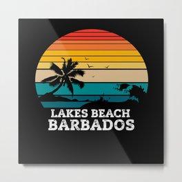 LAKES BEACH BARBADOS Metal Print