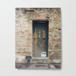 Ageing door Metal Print