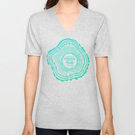 My List – Turquoise Ombré Unisex V-Neck