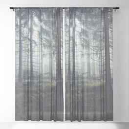 Through The Trees Sheer Curtain