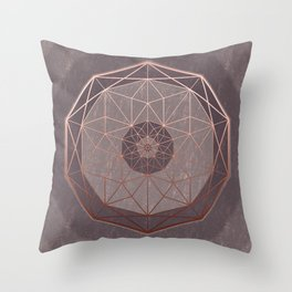 Geodis Magic Stone Throw Pillow