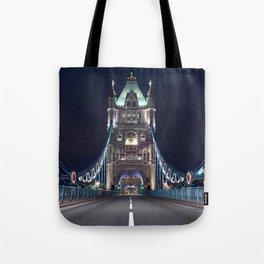 Historically Charged Romantic Tower Bridge At Night London City England United Kingdom Ultra HD Tote Bag