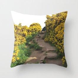 Path at Arthur's Seat Throw Pillow