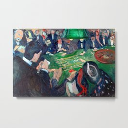 Edvard Munch - At the roulette table in Monte Carlo Metal Print
