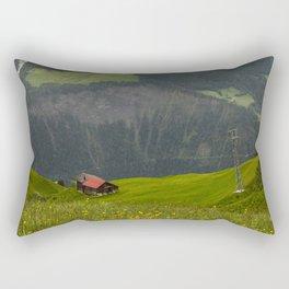 Switzerland Riederalp Photograph, Spring Flowers on the Swiss Alps Rectangular Pillow