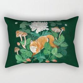 Strawberry Fox Rectangular Pillow