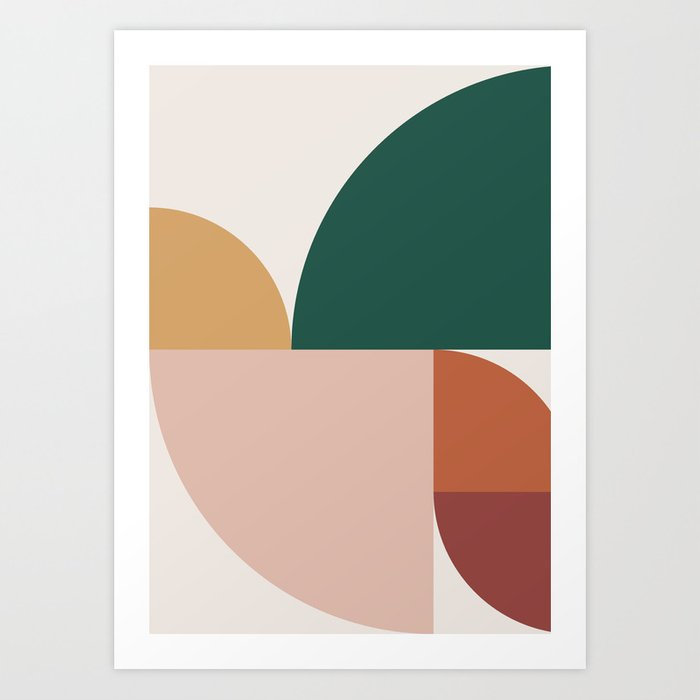 Abstract Geometric 11 Art Print
