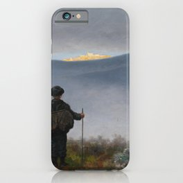 Theodor Kittselsen - Far, far away Soria Moria Palace shimmered like Gold (1900) iPhone Case