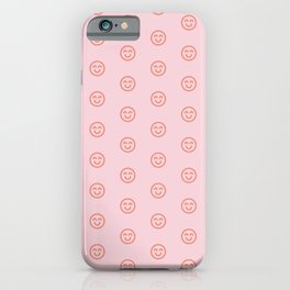 Pink smilies iPhone Case