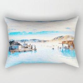BLUE LAGOON, ICELAND Rectangular Pillow