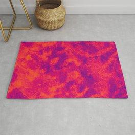 Orange - Purple Abstract Texture 2 Rug