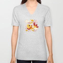 Happy And Lucky Unisex V-Neck