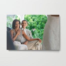 United States President Barack Obama and First Lady Michelle Obama Metal Print