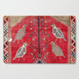 Persian Floral Rug With Several Birds Probably Quail Cutting Board