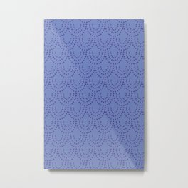 Periwinkle Scallops Metal Print