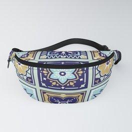 Talavera Mexican Tile – Mint & Navy Palette Fanny Pack
